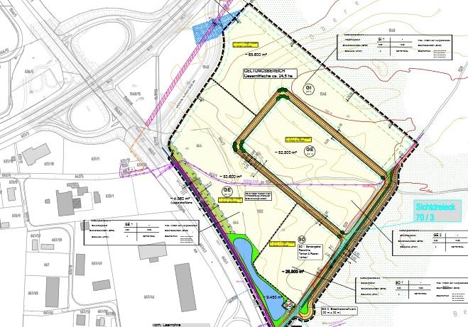 Abbildung Bebauungs- und Grünordnungsplan Industriegebiet Schafhof 3 Ost