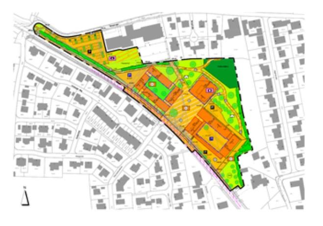 Abbildung Lageplan Neue Mitte Ebermannsdorf