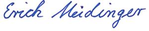 Unterschrift 1. Bürgermeister Erich Meidinger