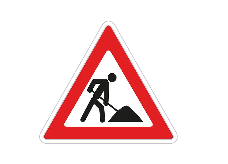 Zeigt ein Baustellenschild